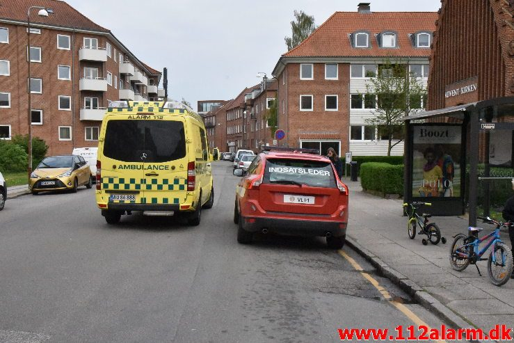 Brand i Bunker. Svendsgade i Vejle. 28/04-2019. KL. 17:00.