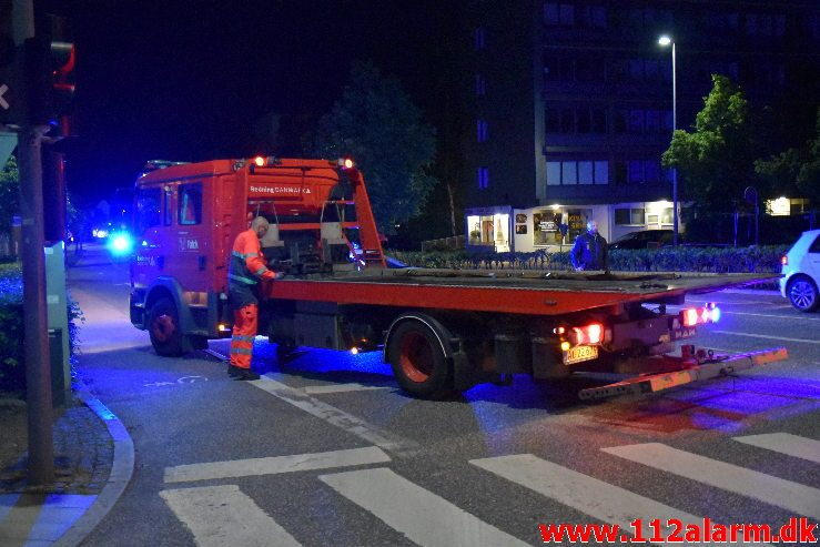 Forurening efter FUH. Skovgade i Vejle. 30/05-2019. KL. 01:40.