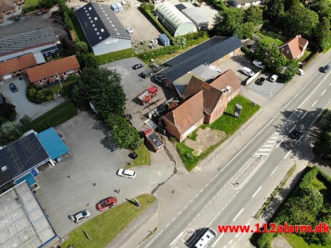 Brand i Industri. Fredericiavej i Skærup. 21/06-2019. Kl. 15:36.