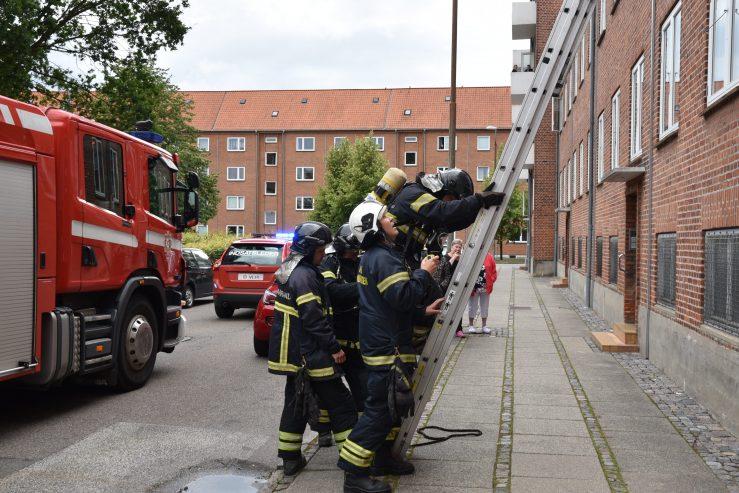 Fandt en falsk røgalarm. Johannesgade 6 i Vejle. 07/07/-2019. Kl. 18:23.