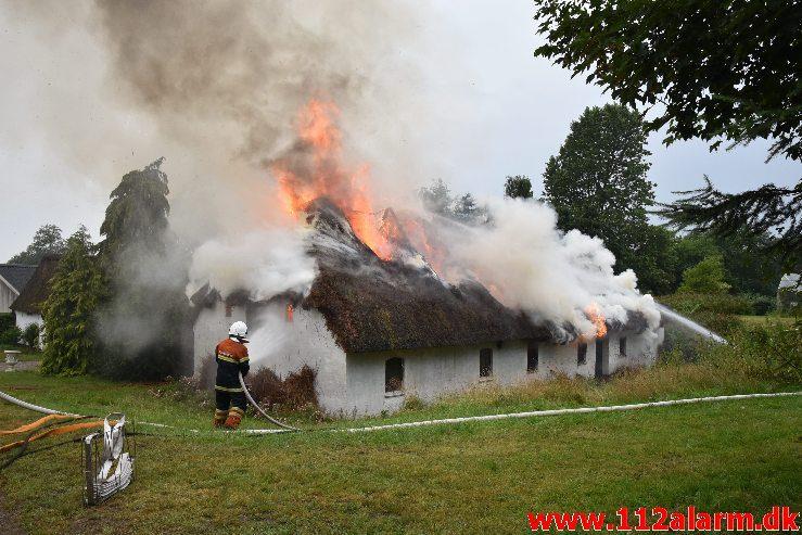 Bygningsbrand – Gård. Sødovervej i Sødover. 31/07-2019. KL. 18:31.