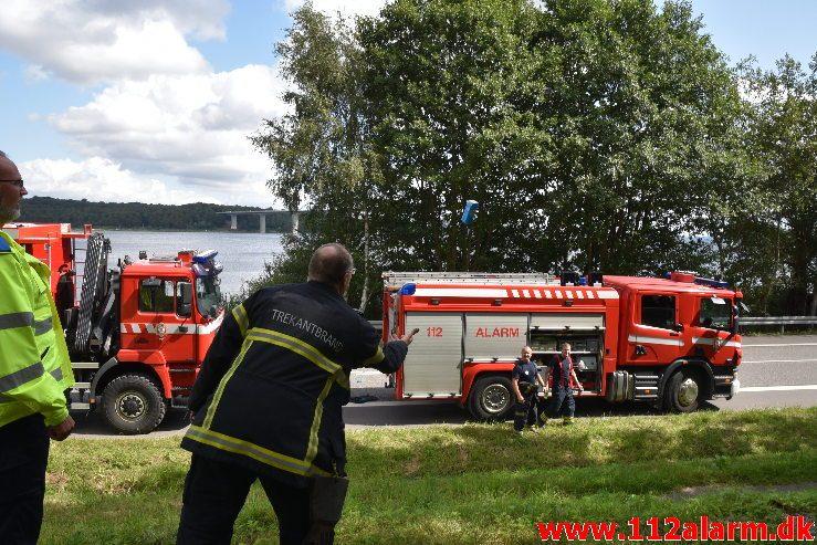 Personpåkørsel. Strækningen fra Børkop til Vejle. 12/08-2019. Kl.11:58.
