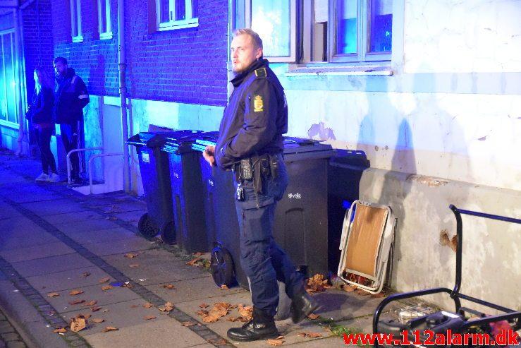 Ild i Lejlighed. Vardevej 16 i Vejle. 01/11-2019. Kl. 01:05.