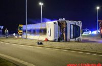 Væltet grisetransport. Jyllandsvej i Middelfart. 18/12-2019. KL. 17:31.