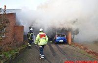 Bilbrand brede sig til garagen. Bredballe Byvej i Vejle Ø. 30/12-2019. Kl. 14:34.