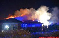 Brand i Villa. Skolebakken i Vejle ø. 01/01-2020. Kl. 01:01.