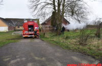 Brand i Villa. Ballevej ved Bredsten. 24/02-2020. Kl. 16:37.