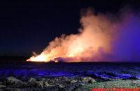 Ild i Halmstak. Tremhusevej ved Bjerlev. 04/03-2020. Kl. 19:11.