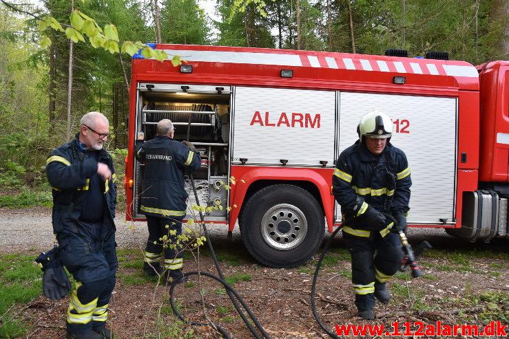 Mindre Naturbrand. Skovgade i Jelling. 07/05-2020. Kl. 20:18.