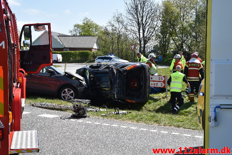 En 91-årig afgået ved døden i en trafikulykke. Oustrupvej og Ribevej ved Egtved. 07/05-2020. Kl. 12:15.