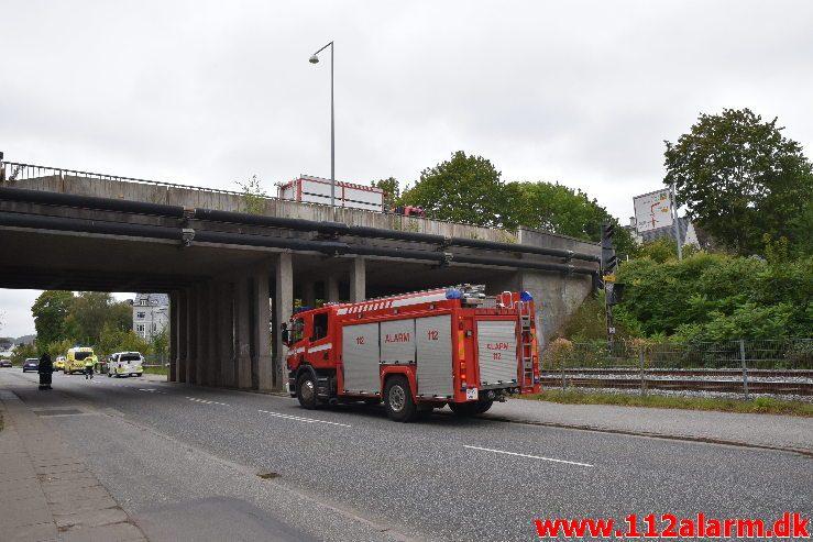 Personpåkørsel. Langelinie i vejle. 23/09-2019. Kl. 09:48.