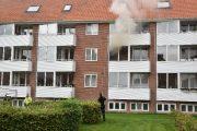Brand-etageejendom. Pilevænget 24 i Vejle. 04/10-2019. Kl. 16:31.