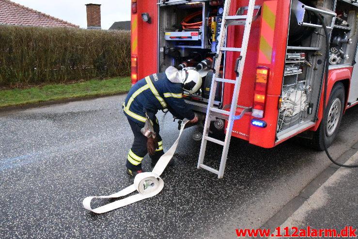Ild i Villa. Havrebakken i Grejs By. 16/01-2020. Kl. 09:39.