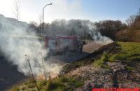 Ild i Skråning. Askevænget i Vejle. 17/04-2020. Kl. 18:58.
