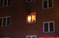 Brand i lejlighed. Svendsgade i Vejle. 25/04-2020. KL. 02:23.