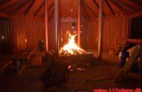 Ild i fritliggende udhus. Badevænget i Vejle. 30/04-2020. KL. 22:07.