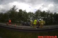 Alvorligt trafikuheld på E45. Mellem Hedensted og Hornstrup. 07/06-2020. Kl. 11:10.