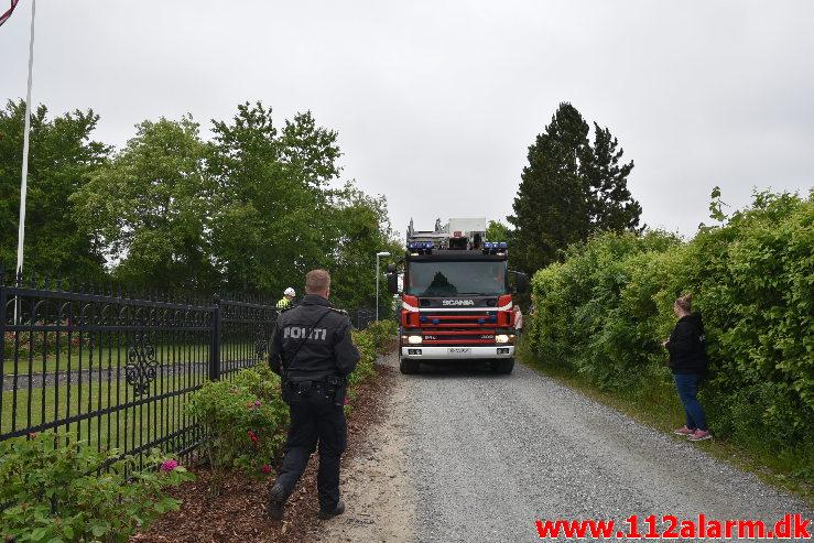 Voldsomt brand i Villa. Møllehusvej i Grejs. 12/06-2020. Kl. 18:34.