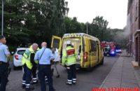 Mand blev reddet ud af brændende lejlighed. Ved Skraaningen 9 i Vejle. 09/07-2020. Kl. 21:37.