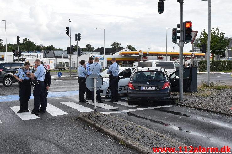 Trafikuheld. Horsensvej i Vejle. 14/07-2020. Kl. 19:00