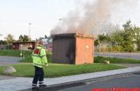 Ild i Transformatorstation. Jenlevej i Højen / Vejle. 08/08-2020. Kl. 19:55.