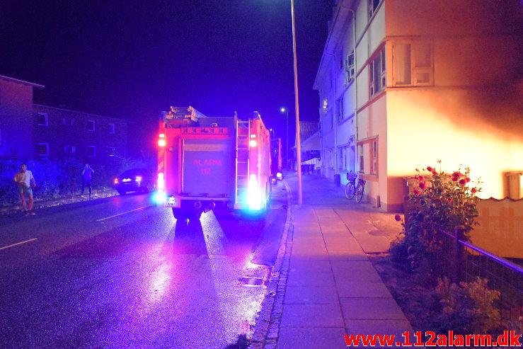 Bilbrand. Vardevej i Vejle. 23/08-2020. KL. 00:15.