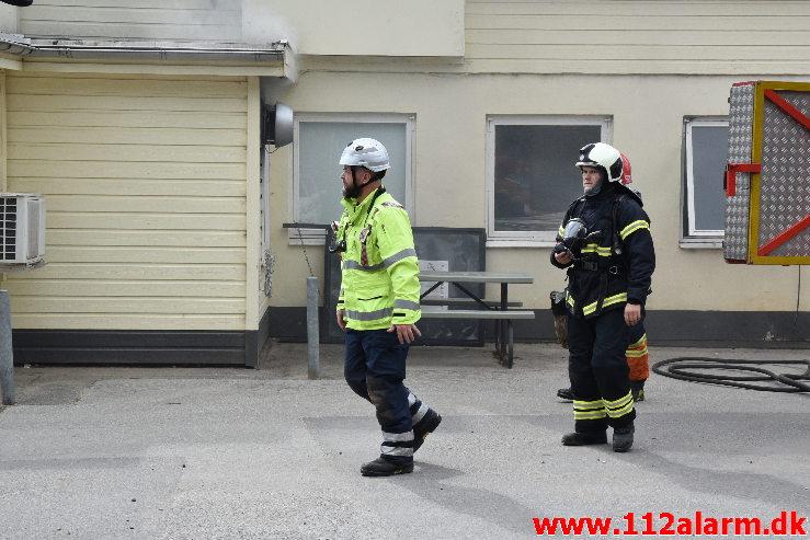 Ild i frituregryde Jelling Camping . Mølvangvej i Jelling. 22/08-2020. KL. 11:39.