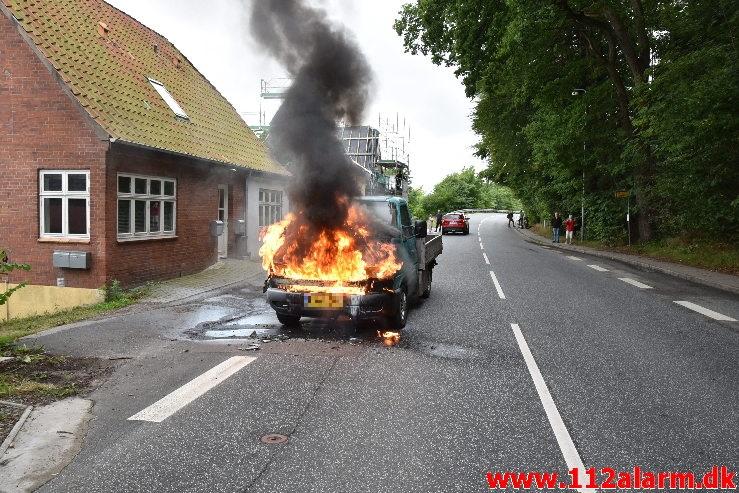 Nåde ikke frem til næste værksted. Vardevej i Vejle. 24/08-2020. Kl. 10:54.