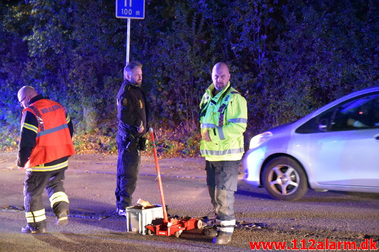 Færdselsuheld spærret vejen. Horsensvej i Vejle. 28/09-2020. Kl. 19:10.