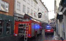 Brand i el installation. Vissingsgade 2 i Vejle. 28/10-2020. Kl. 08:31.