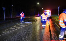 Nedkørt helleanlæg. Grønlandsvej i Vejle. 30/12-2020. Kl. 19:14.