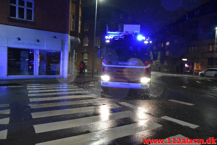 Ild i Lejlighed. Nyboesgade 34 i Vejle. 06/01-2021. Kl. 21:23.