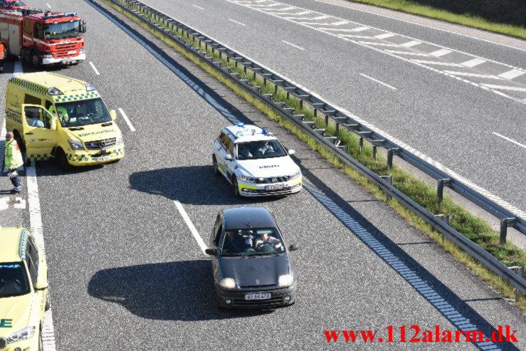 Kørte 200 meter på taget. Midtjyske Motorvej. 30/05-2021. KL.17:56.
