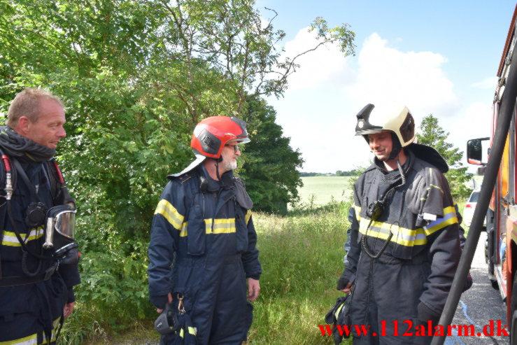 Brand i Villa. Trangtrappevej i Kollerup. 25/06-2021. Kl. 08:56.