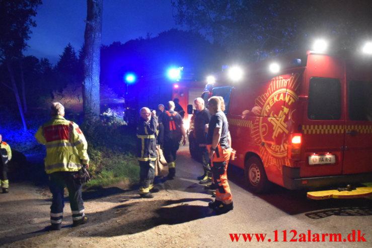 Alvorlig redningsaktion. Birkelundvej ved Jelling. 14/07-2021. Kl. 22:47.