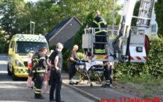 Mand kom til skade på 1. sal. Ny Grejsdalsvej i Vejle. 17/07-2021. KL. 18:10.