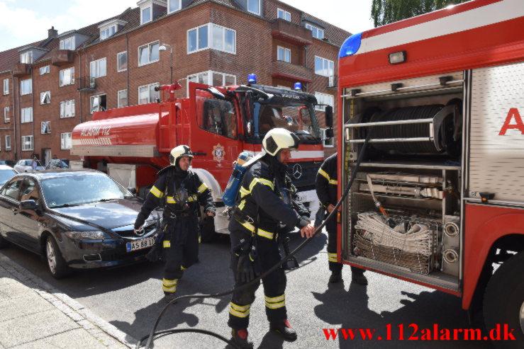 Brand i Lejlighed. Svendsgade i Vejle. 19/07-2021. Kl. 12:34.