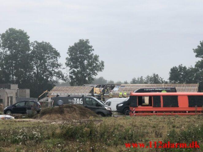 Brand i Villa. Remmerslund Skovby i Hedensted. 10/09-2021. KL. 08:26.